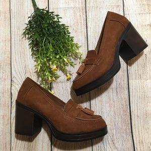 MIA 'Lilliana' Platform Loafer Heels w/ Tassel